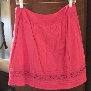 Loft pink side zip skirt